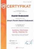 Certyfikat systemy alarmowe Satel Perfecta