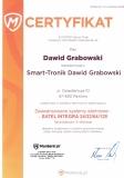 Certyfikat systemy alarmowe Satel Integra